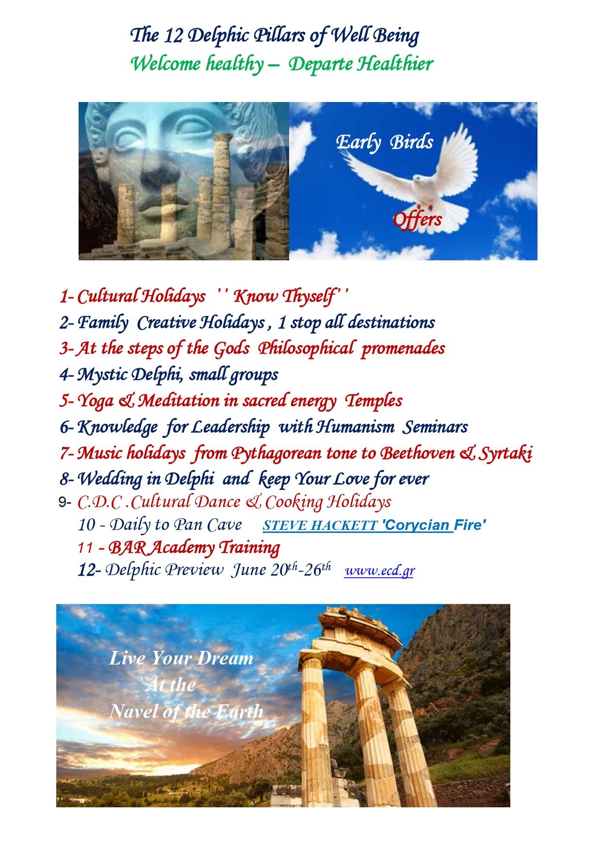12 Delphic Pillars